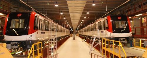 Visita a les instal·lacions de Can Zam de la línia 9 del metro