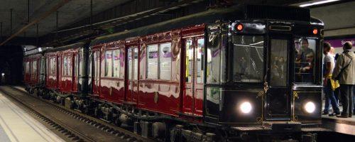 Visita noctura a bord del tren històric de Metro