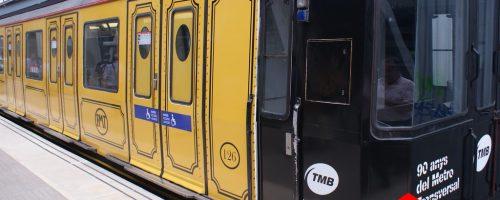 Empieza a circular el tren conmemorativo del 90 aniversario del Metro Transversal