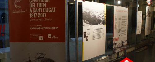 Visita a la exposición «100 años de tren a Sant Cugat del Vallès»